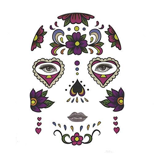 Boomboom Halloween Temporary Face Art Waterproof Mask Stickers