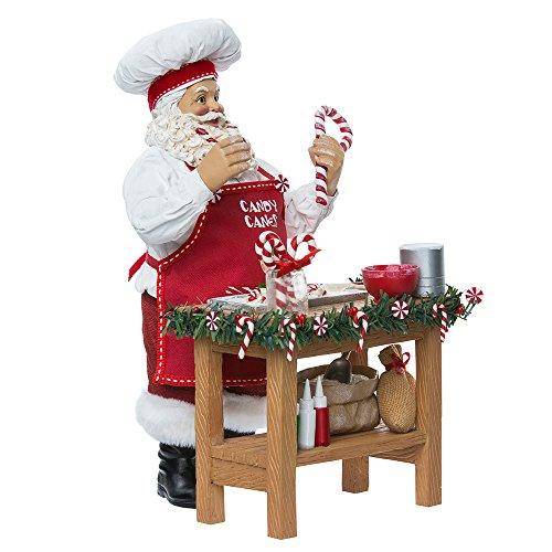 Santa Claus Candy Cane (Kurt Adler 10-Inch Fabriché Candy Cane Chef Santa - 2-Piece Set)