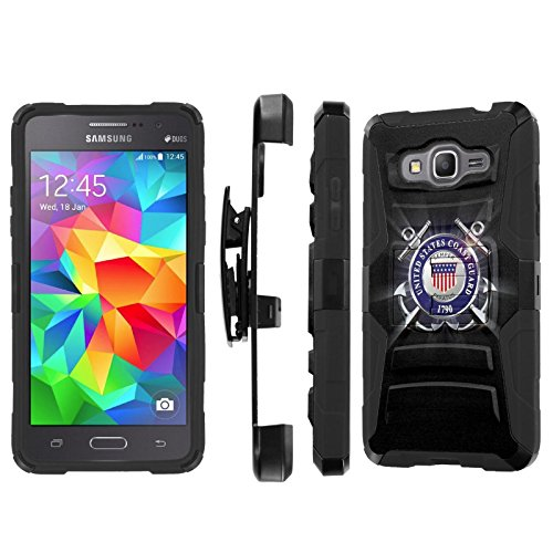 - Galaxy [GRAND Prime] Armor Case [SlickCandy] [Black/Black] Heavy Duty Defender [Holster] [Kick Stand] Phone Case - [United States Coast Guard] for Samsung Galaxy [GRAND Prime] G530