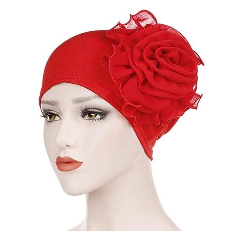 Women Hat Islam Stretch Flower Turban Cancer Chemo Cap Head Wraps Cap Arab Hijab