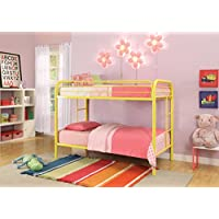 ACME Furniture 02188YL Thomas Bunk Bed, Twin, Yellow