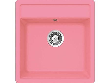 Shock N-100 S U Pink Granite Sink Nemo Kitchen Sink Countertop Basin ...