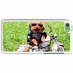 Personalized Apple iPhone 5C Back Diy PC Hard Shell Case Dog White