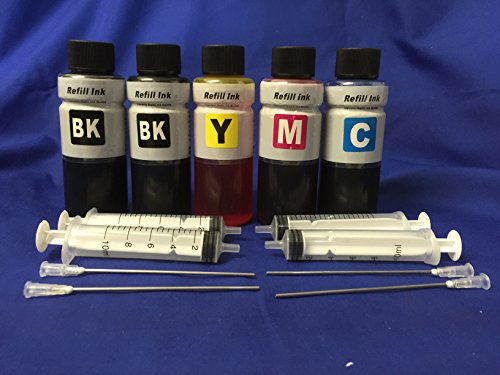 500 ml ink refill kit for Brother LC201 LC203 for refillable cartridges/ cis/ ciss ink system + 4 free syringes/ needles kofc (Cis System)