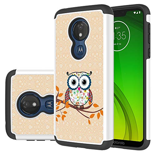 (VOSON Moto G7 Power Case,Soft TPU The Owl Phone Case Durable Hybrid Anti-Slip Shockproof Against Scratches case Rubber Cover for Moto Moto G7 Power Case (Owl))