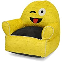 Emoji Pals Wink Tounge Out Toddler Bean Bag, Yellow