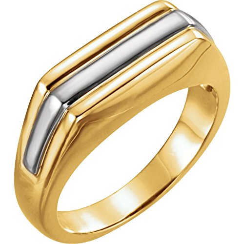 Platinum & 18k Yellow Gold Men Gents Ring