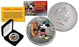 2017 Nieu 1 oz 99.9% SILVER BU Mickey Disney Steamboat Willie Colorized Coin