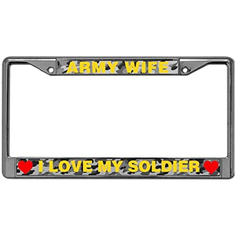 Amazoncom Gnd I Love My Soldier Stainless Steel Black License