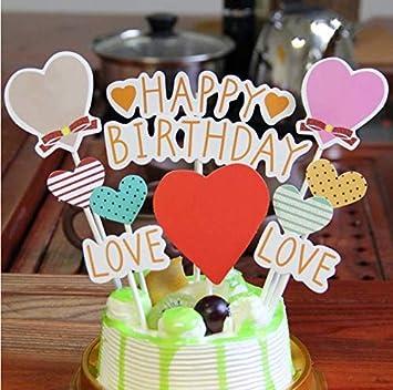 Amazon Com Purearte Happy Birthday Cake Topper For Kids Party