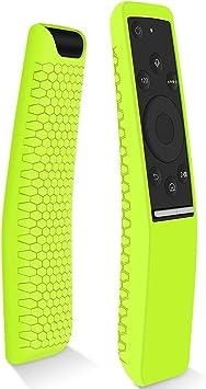 Hydream Funda Protectora Compatible con Mando de Samsung 4K UHD Smart TV, Antideslizante Silicona Carcasas para Samsung Control Remoto de BN59-01259B/BN59-01274A/BN59-01260A (Amarillo Verde): Amazon.es: Electrónica