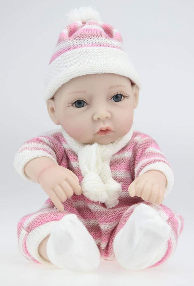 calidad garantizada Hongge Hongge Hongge Reborn Baby Doll,Niña de Juguete de muñeca Reborn Silicona Ducha Set de Regalo de cumpleaños casa Jugar compañero 28cm  venta al por mayor barato