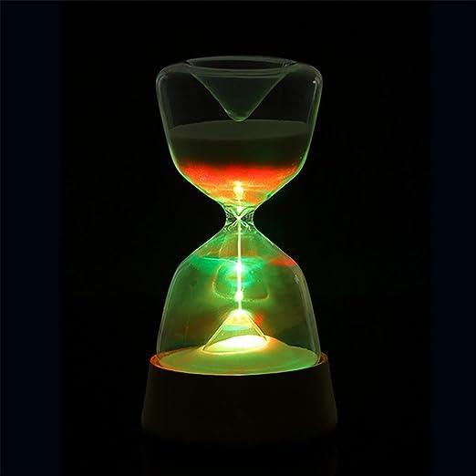 XYDM Lámparas de mesa Reloj de arena creativo LED Toque Luz de noche USB 4 colores Cambio para Cuarto Niños Encantador Regalo: Amazon.es: Deportes y aire ...