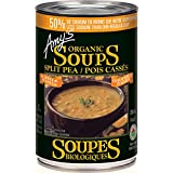 Amys Soup Split Pea Organic Light in Sodium, 398ml (Pack of 4)