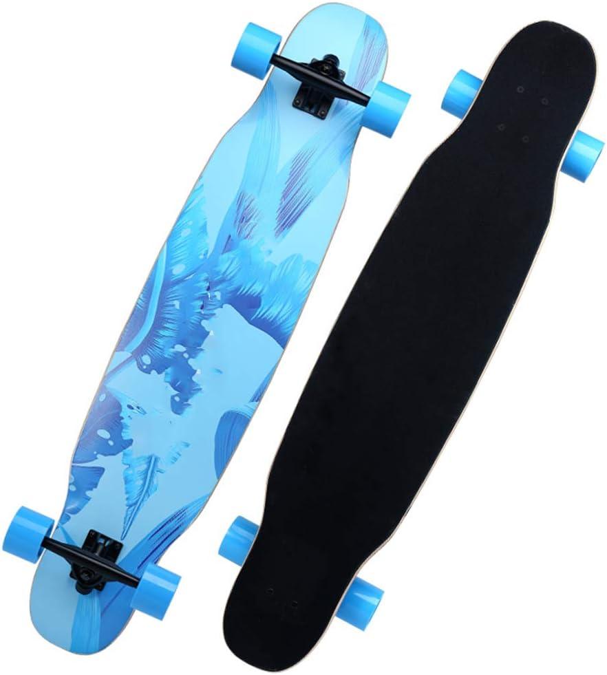 ロングボードスケートボード42インチロングデッキメイプルダンスロングボード大人用、男の子用、初心者用デザイン最大330ポンド #1