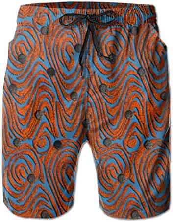 67e6adf429 VIRTUALSHELF Men's Swim Trunks Color Peacock Quick Dry Drawstring Surfing Beach  Shorts with Pockets