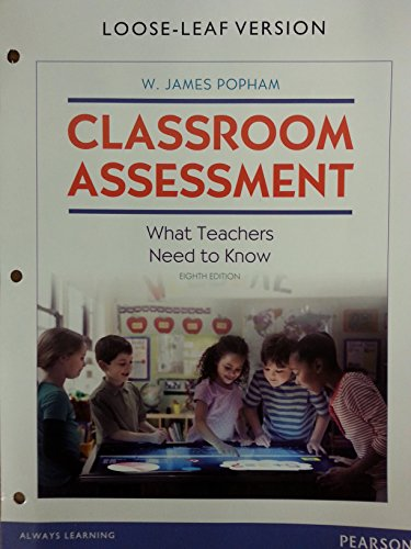 Classroom Assessment (Looseleaf)