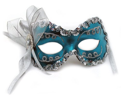 Success Creations Angelina Teal Women's Masquerade Mask