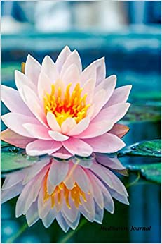 Meditation Journal: Lotus Flower Pond,Lined Journal,Blank Book 6 x 9, 150 Pages for Mindfulness Reflection, Insight Meditation and Stress Relief