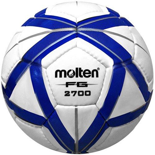 Molten FG Design Soccer Ball, Blue/Silver, Size 5 ()
