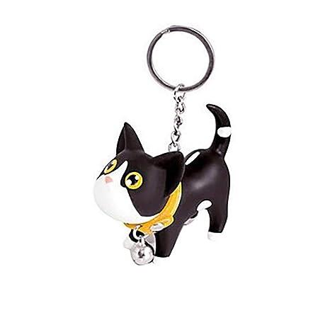 Gatito del Gato Llavero Animal de la Historieta de Bell Pequeño Llavero de Metal Mujeres Estudiante llaveroMengonee