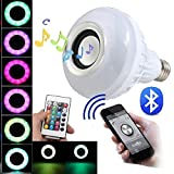 BFF Products Bluetooth Speaker Light Bulb Smart LED RGB Color Changing + Remote For Sale