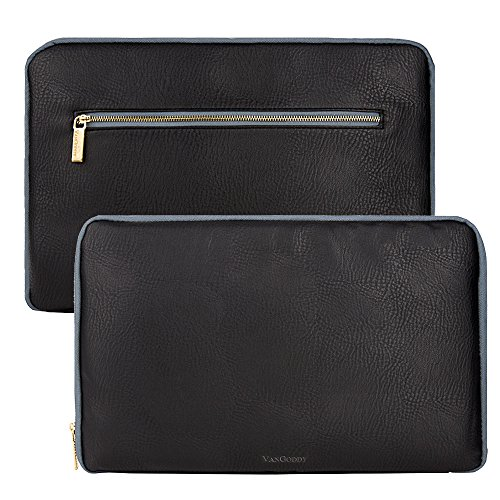 8.9-10.1 Inch Tablet Sleeve Water-Resistant Notebook Tablet Protective Vegan Leather Skin Cover Briefcase Carrying Case with Accessory Pocket for iPad Samsung Dell Asus Lenovo