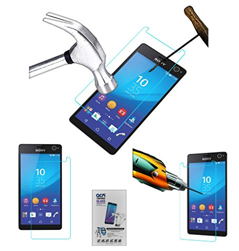 Acm Tempered Glass Screenguard Compatible with Sony Xperia C4 Dual Screen Guard Scratch Protector
