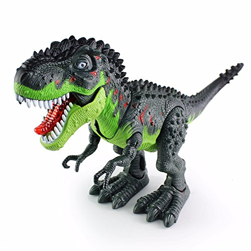O.B Toys&Gift Walking Dinosaur T-Rex Tyrannosaurus Toy w/ Lights & Realistic Sounds , Real Movement T-Rex Dinosaur Action Toy Figure Walking Moving (Colors May Vary)