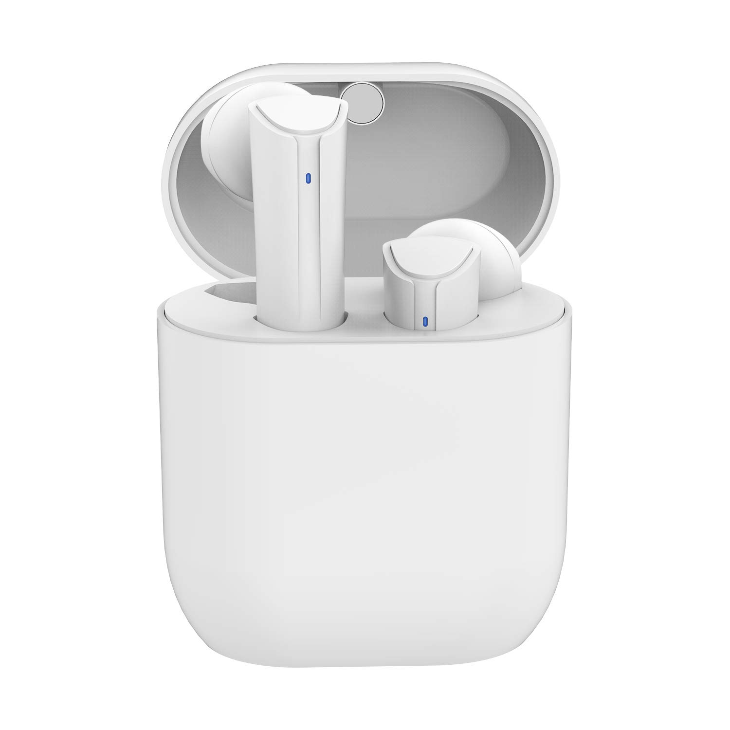 Wireless Earbuds Bluetooth 5.0 Headphones, Cshidworld True Wireless Stereo Earphones with 35Hrs Playback, Hi-fi Sound Bluetooth Headset with Charging Case, One-Step Pairing (White) by Cshidworld (Image #1)