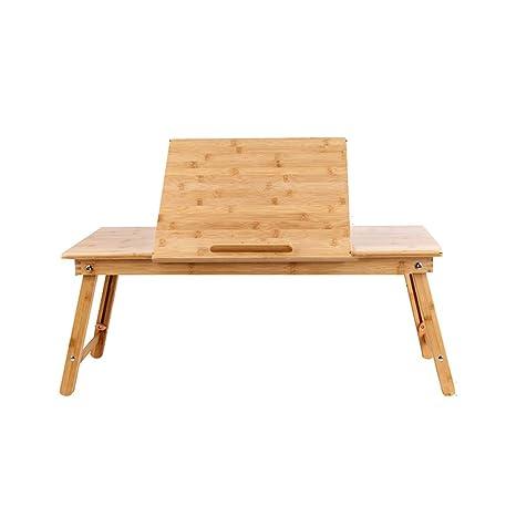 Amazon.com: Mesa plegable de bambú cama plegable Lazy Desk ...