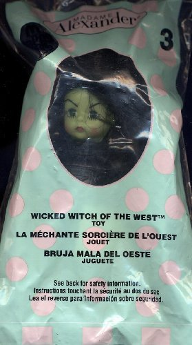 2007 WICKED WITCH OF THE WEST #3 MADAME ALEXANDER DOLL MCDONALD'S HAPPY MEAL WIZARD OF ()