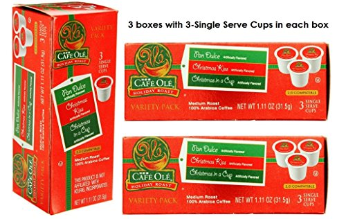 heb-cafe-ole-holiday-roast-k-cup-variety-pack-pan-dulce-christmas-kiss-christmas-in-a-cup-pack-of-3