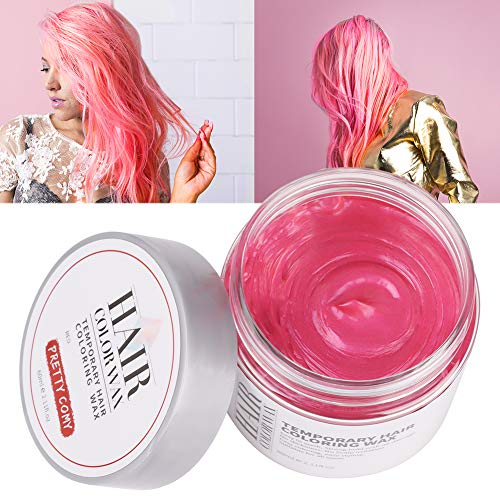 Sizet 6 Colors DIY Washable Hair Color Wax Disposable Hair Dye Cream Party Use for Halloween 80g