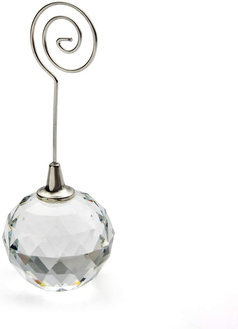 Oneplace Gifts Crystal Place Card Holders Table Number Holders Crystal Ball 4 Amazon Co Uk Kitchen Home