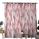 """master bedroom paint colors Beihai1Sun Blackout Curtain Abstract Hipster Style Inspirations Brush Stroke Stripes Watercolor Paint Smears Vintage Grommet Curtains for Bedroom 72"""" W x 107"""" L Coral White"""