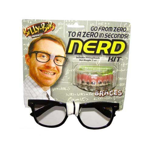 Billy Bob Teeth Braces - Nerd Kit Costume Accessory Billy Bob Braces Glasses Costume Gag