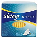 Always 18 Count Infinity Unscented Pads With Wings, Regular Flow - Pack O... - Buy Packs and SAVE (Pack of 2)