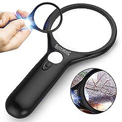 RockDaMic Magnifying Glass [3X 45x w/ 3 ...