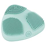 Cleansing Brush Conair - True Glow by Conair Skinpod Silicone Facial Cleansing Brush with Three Brush Zones and Sonic Advantage; Battery Operated