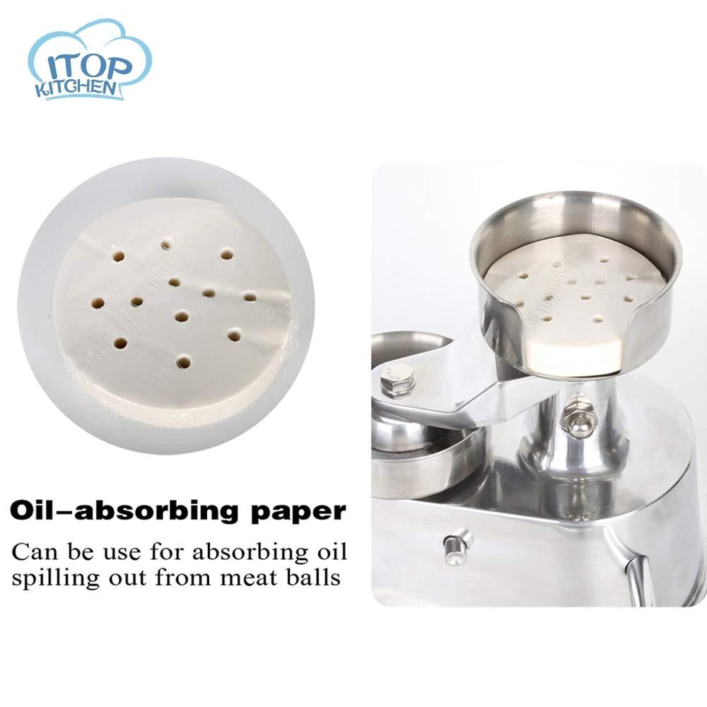 Paper Strainer Itop 1set 100mm 130mm Patty Paper Hamburger Press Oil Absorbing Paper 400pcs/set by Aquat