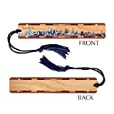 new york bookmark - New York City Skyline 2 - Wooden Bookmark with Tassel - Personalized version also available - search B06ZZPXMZS