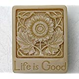 Allforhome Life is Good Craft Art Silicone Soap mold Craft Moulds DIY Handmade soap molds savon moule