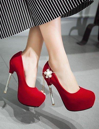 ShangYi Chaussures Femme-Mariage / Bureau & Travail / Soirée & Evénement-Noir / Rouge / Blanc-Talon Aiguille-Talons-Talons-Similicuir Red wKoBOXnUx