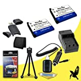 Two Halcyon 1200 mAH Lithium Ion Replacement NP-45A Battery and Charger Kit + Memory Card Wallet + SDHC Card USB Reader + Deluxe Starter Kit for Fujifilm Finepix XP20 Digital Camera and Fujifilm NP-45A