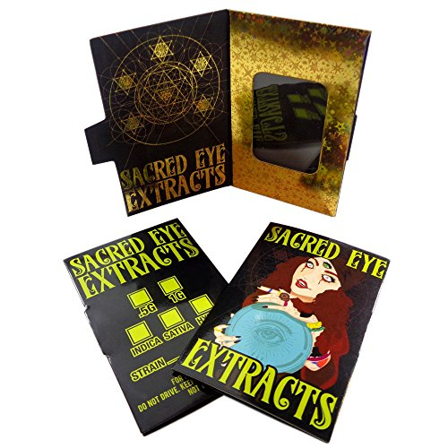 250 Sacred Eye Extract Premium Foil Display Window Concentrate Envelopes Shatter Labels #138 by Shatter Labels