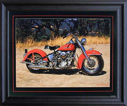 Impact Posters Gallery 1954 Red Panhead Harley Davidson Vint