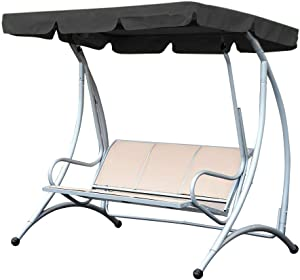 "Patio Swing Canopy Replacement Cover-Waterproof 190T Polyester Taffeta-Canopy Top Cover Replacement Canopy Block Garden Outdoor Porch Patio Swing :74.8""x51.9""x5.9""inch"