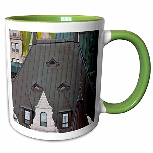 (3dRose Danita Delimont - Hotels - Chateau Frontenac Hotel, Quebec City, Canada - CN10 KSU0001 - Keren Su - 15oz Two-Tone Green Mug (mug_135368_12))