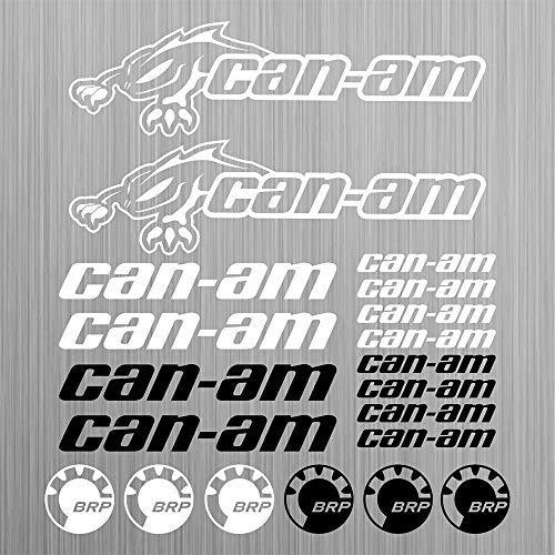 can-am canam BRP sticker quad ATV decal 20 Pieces Racing Car Vinyl Die-Cut  Sticker Kit Decal car sticker car styling decorative car body sticker